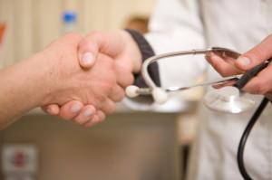 doctor trust handshake stethascope